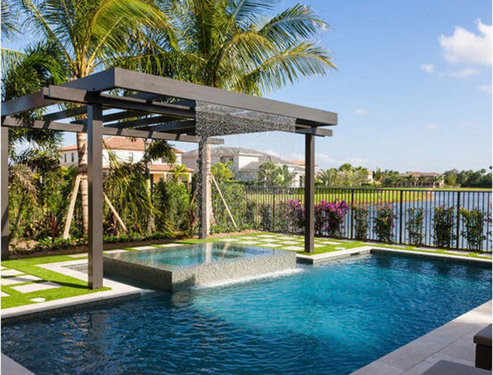 Shade structures gallery palo verde pools for Pergola aluminium design
